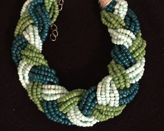 Bracelet - Beaded and Braided - Multicolor - Summer Item