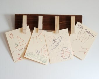 Clothespin Display//Kids Artwork Display//Photo Display
