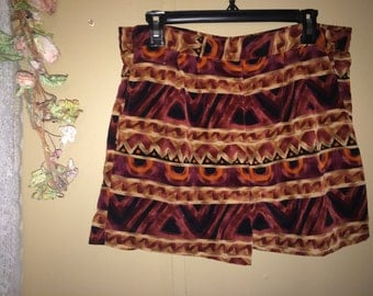 Tribal High Waisted Fabric Shorts