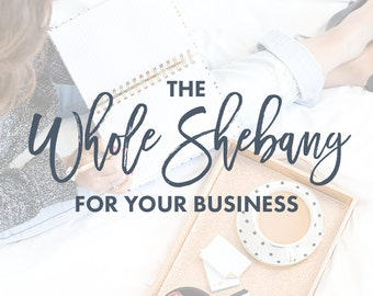 The Whole Shebang for your business - start-up branding and web design package.