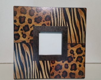 Leopard and Tiger Print Picture Frame
