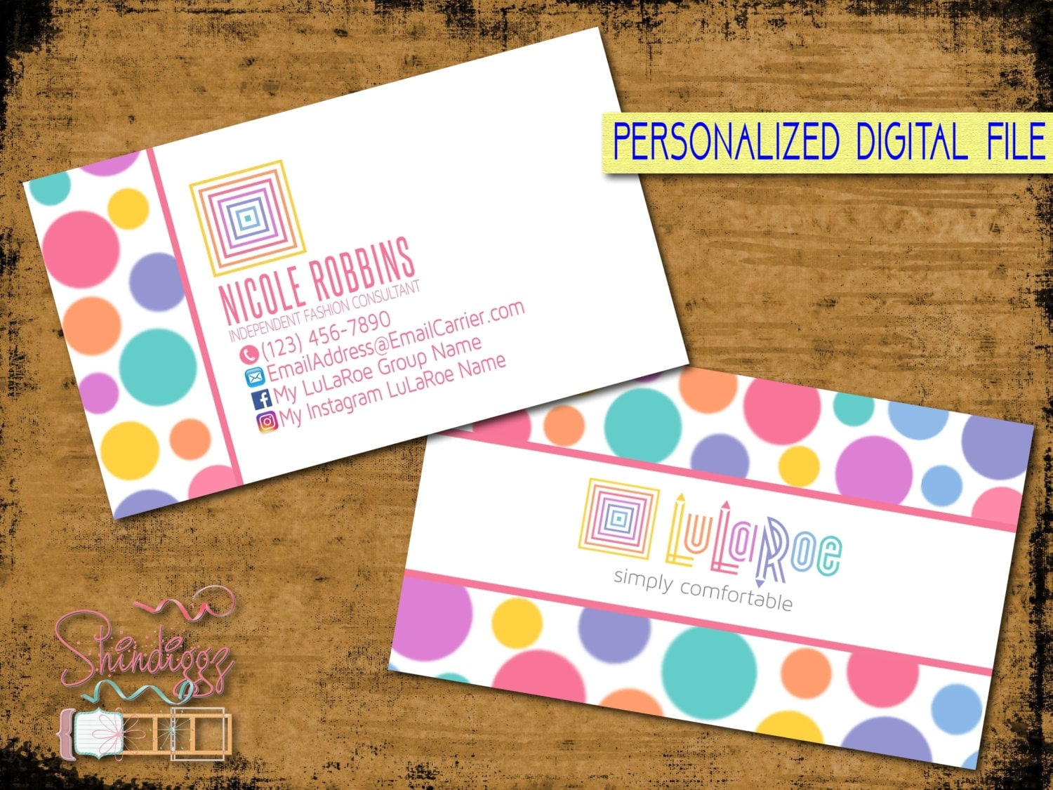 Lularoe business card full color digital file by shindiggz for Etsy lularoe business cards