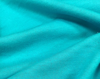 100% Cotton Jersey Knit Fabric (Wholesale Price Available By The Bolt) USA Made Premium Quality - 2840 Peacock - 1 Yard