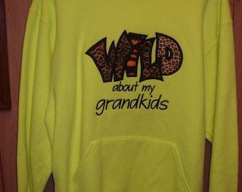 embroidered grandkids sweatshirts