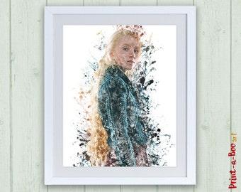 Harry Potter saga: Luna Lovegood digital print. Instant download baby Luna Lovegood printable poster, Luna Lovegood Hogwarts print