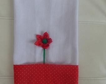 Tea towel , Dishcloths,  kitchen towel flower