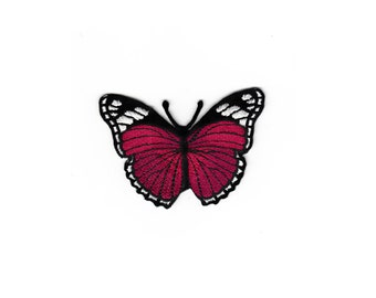 Cute Kids Angel Wings Embroidered Cloth Sew Iron On Black Red butterfly Flower Patches Patch Applique Outlaw Biker For Jackets Jeans