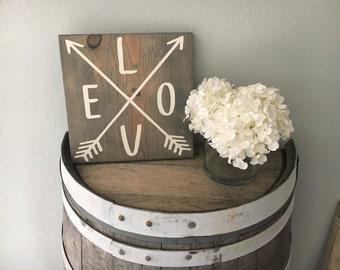 Love Sign/ Rustic