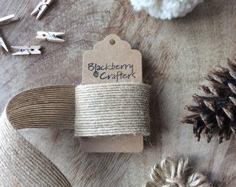 Jute Ribbon, wide burlap/hessian/hemp ribbon