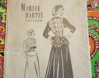 1940s  #T 9176 Marian Martin Pattern size 15 precut