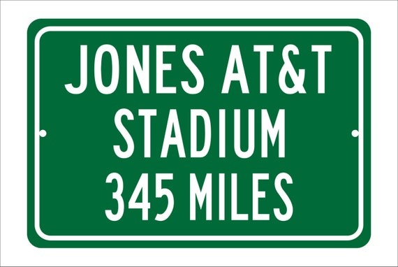 Custom College Highway Distance Sign to Jones AT&T Stadium | Home of the Texas Tech University Red Raiders | Red Raider Football |
