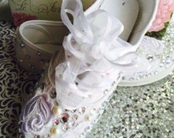Bride Sneakers*Wedding Sneakers*Women's Sneakers*Brides Flats*
