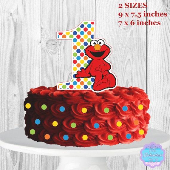 Elmo Cake Decorations : Elmo Cake Topper Sesame Street Centerpiece Elmo by ...