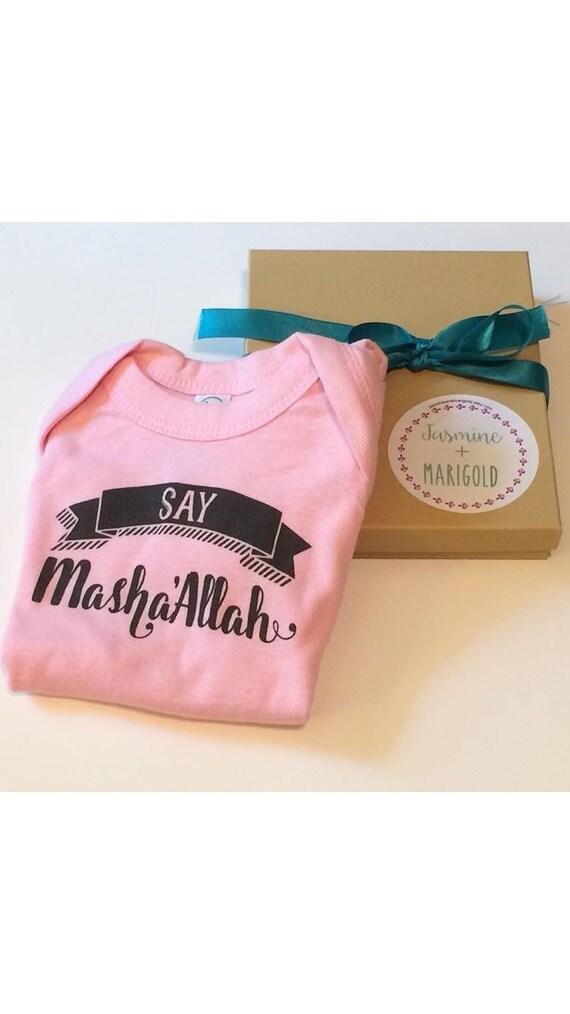 Baby Gifts For Muslim : Say masha allah tm baby bodysuit muslim gift