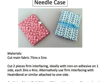 Make your own Needlecase PDF digital download instructions