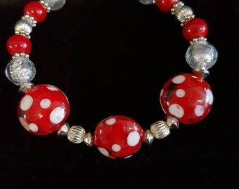 Red Polka Dot Bracelet