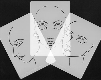 Face Template Stencil Set