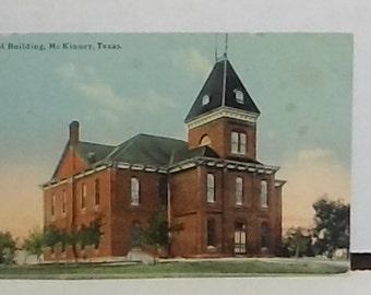 old postcard School Building McKinney TX 1911