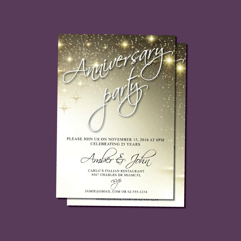 Anniversary Invitations, Anniversary Party Invites | 25th, 30th ...