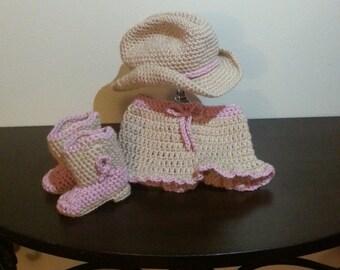 Crochet Infant Cowboy set