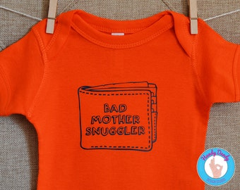 Bad Mother Snuggler - Pulp Fiction Kids Shirt - Pulp Fiction Wallet Onesie - Quentin Tarantino - Funny Kids Shirt - Funny Baby Onesie