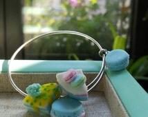 "Polymer clay sweets on anysize ""Alex and Ani"" style bracelet"