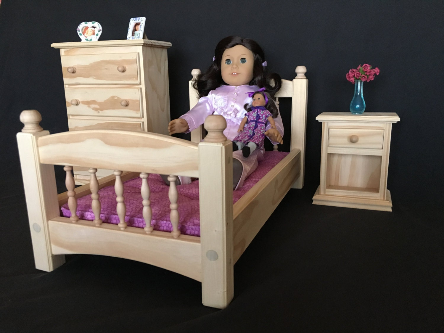 Bedroom Set For American Girl And All Other 18 Dolls Select Pine Unfinished