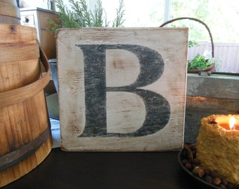 Personalized Wooden Initial Sign. Farmhouse Cottage Wood Letter Sign. Rustic Wooden Wall Hanging Initial Sign. Wedding. Bridal. Housewarming