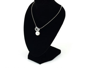 Hot Black Mannequin Necklace Pendant Jewelry Display Stand Holder Show VELVET