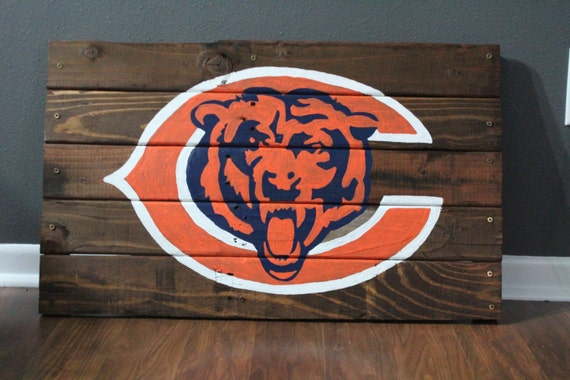 Chicago Bears Man Cave Signs : Chicago bears wooden pallet sign by parkwoodpallets on etsy