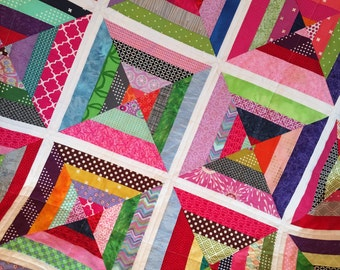 Bright Colors String Baby Quilt