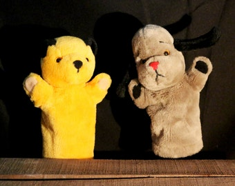 Vintage Sooty and Sweep 10' Puppets from Matthew Corbett and Patsy B