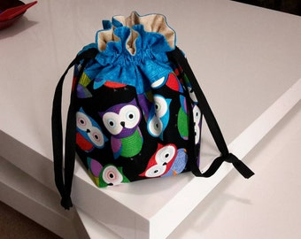 Drawstring Project Bag Medium, Knitting Bag