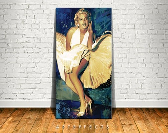 Marilyn Monroe Canvas High Quality Giclee Print Wall Decor Art Poster Artwork