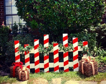 Christmas Picket Fence