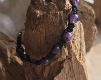 Amethyst Shambala Bracelet