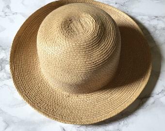 sand bowler hat | natural straw bowler sun hat