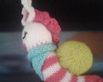 knitted snail toy handmade