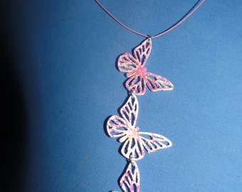 pretty butterfly, romantic necklace