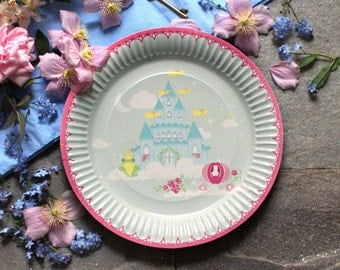Set of Eight Fairy Tale Paper Plates