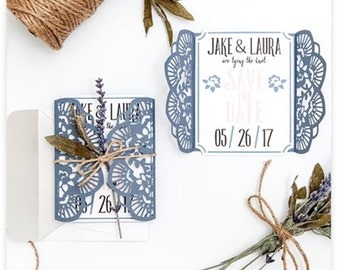 50 Rustic Save the Date Cards