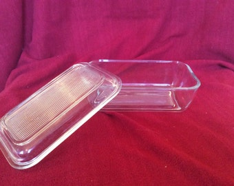 Arcoroc Clear Glass Butter Dish