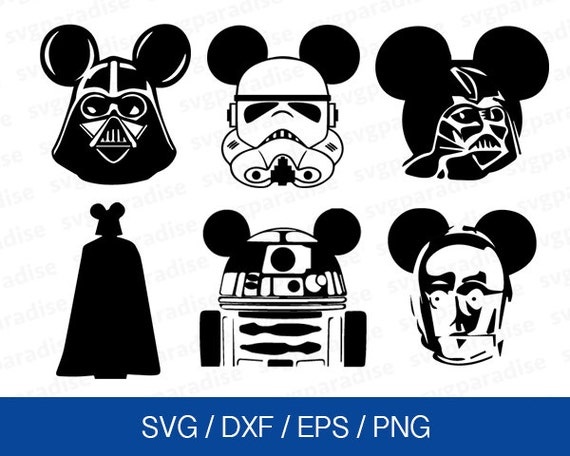 Star Wars Mickey Svg Disney Star Wars Svg Mickey Mouse