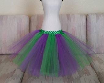 Purple and green tutu