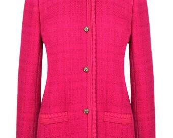 Chanel Magenta Tweed Jacket
