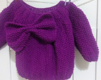 Hand knitted cardigan Hand knitted sweater Hand knits for  girls.