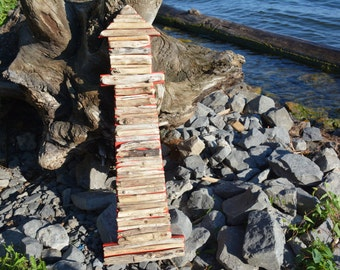 Driftwood Lighthouse Wall Decor - Handmade