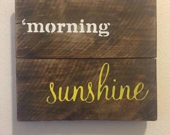 Pallet morning sunshine
