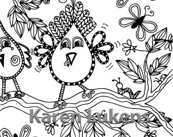 Romeo Being Silly, 1 Adult Coloring Book Page, Printable Instant Download
