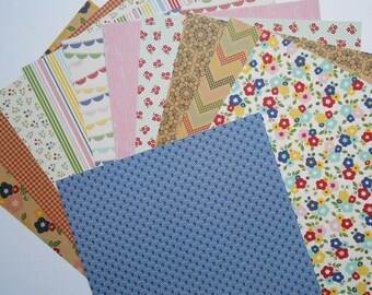 Fresh Goods 12x12 11 Page Double Sided Scrapbook Paper Set by Pebbles